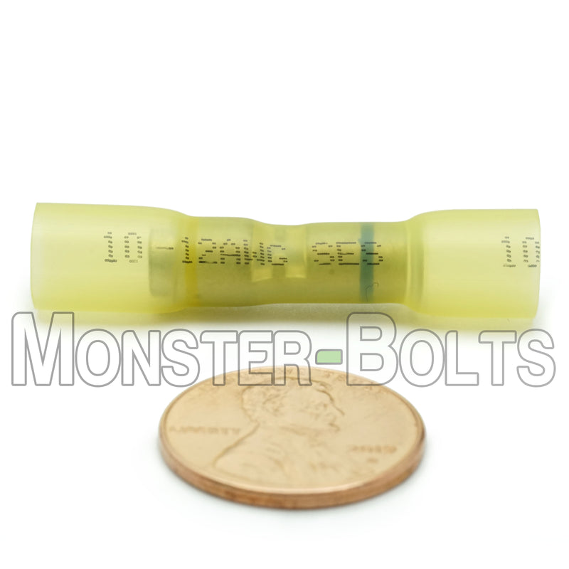 SES Krimpa-Seal Waterproof Crimp Step Down Butt Connectors, Yellow 16-14 to 12-10 AWG. - Monster Bolts
