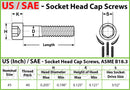 #5-40 Socket Head Cap screws - Alloy Steel w/ Thermal Black Oxide, Coarse Thread