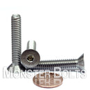 "1/4""-20 - Stainless Steel Flat Head Socket Caps screws - 18-8 / A2 - Monster Bolts"