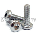 M6 Stainless Steel 6-Lobe Pan Head Machine Screws, Hexalobular Star Torx A2 18-8
