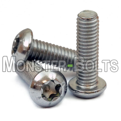 M3 - 0.50 Stainless Steel 6-Lobe Button Head Socket Cap Screws, ISO 7380 Torx A2