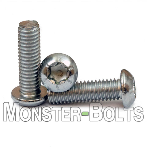 6mm / M6 x 1.0 -  Stainless Steel 6-Lobe Button Head Cap Screws, ISO 7380 Torx A2