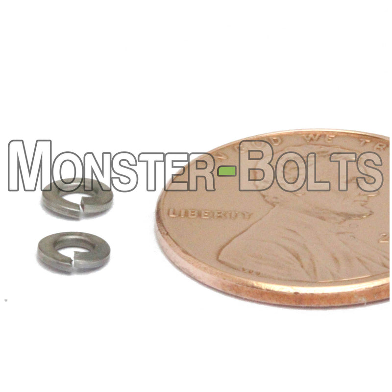 Metric Split Lock Washers - Stainless Steel DIN 127B 18-8 / A2 - Monster Bolts