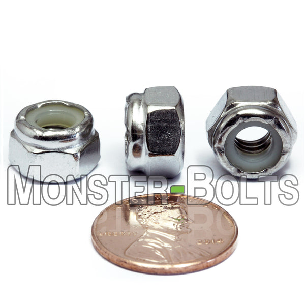 U.S. / Inch - Stainless Steel Nylon Insert Hex Lock Nuts - A2 / 18-8 - Monster Bolts