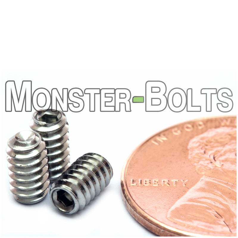 #6-32 - Stainless Steel Cup Point Socket Set screws - A2 / 18-8