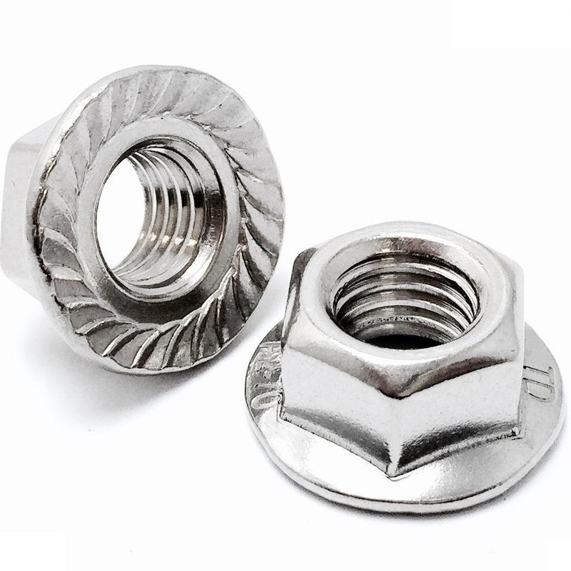 U.S. / Inch - Hex Serrated Flange Nuts - Stainless Steel 18-8 (A2)