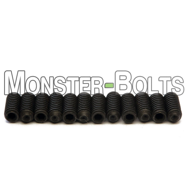Black #4-48 Fine Thread Guitar Screws for Bridge Saddle Height Adjustment - For American made Fender Stratocaster 2008 and newer - Monster Bolts