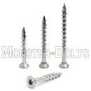 #10 Star (Torx) Drive Flat Head w/ Nibs, 305 Stainless Steel Coarse Thread Type '17' point, Wood / Drywall / Deck Screws