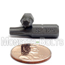 "1-Inch Star (Torx) Hex Shank Screwdriver / Drill Bits, S2 Steel 1/4"" - Monster Bolts"