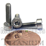 3mm / M3 x 0.5 - TITANIUM SOCKET HEAD Caps screws DIN 912 / ISO 4762