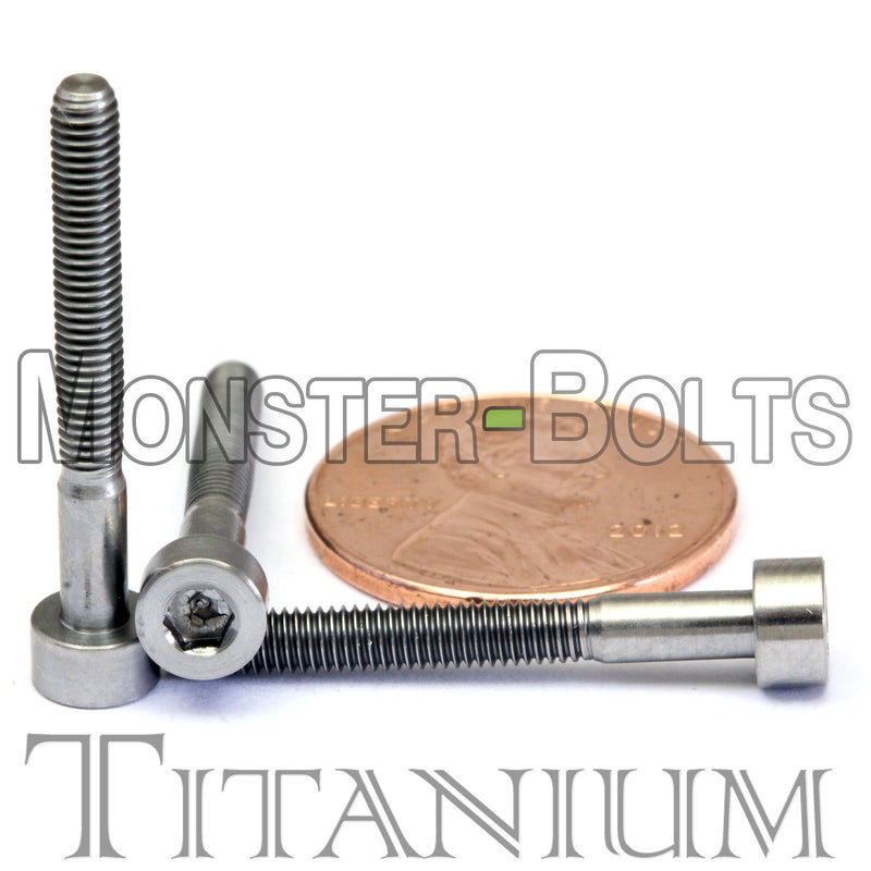 M3 Titanium Socket Head Cap screws DIN 912 / ISO 4762 - Monster Bolts