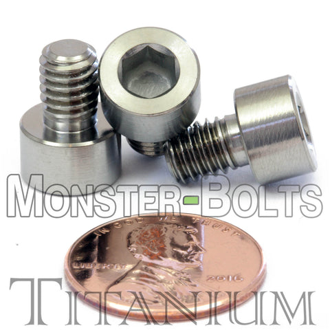 6mm / M6 x 1 0 - TITANIUM SOCKET HEAD Caps screws DIN 912