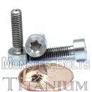 M4 Titanium Torx Socket Head Cap screws DIN 912 / ISO 4762 - Monster Bolts