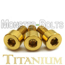 Titanium Guitar Locking Nut Screws, Gold Anodized - Floyd Rose Tremolo - Monster Bolts