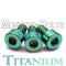 Titanium Guitar Locking Nut Screws, Green Anodized - Floyd Rose Tremolo - Monster Bolts