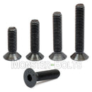 #4-40 - Flat Head Socket Caps screws - Alloy Steel w/ Thermal Black Oxide