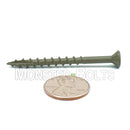 #8 Star (Torx) Drive Flat Head w/ Nibs, WAR coated steel Coarse Thread Type '17' point, for ACQ Treated lumber