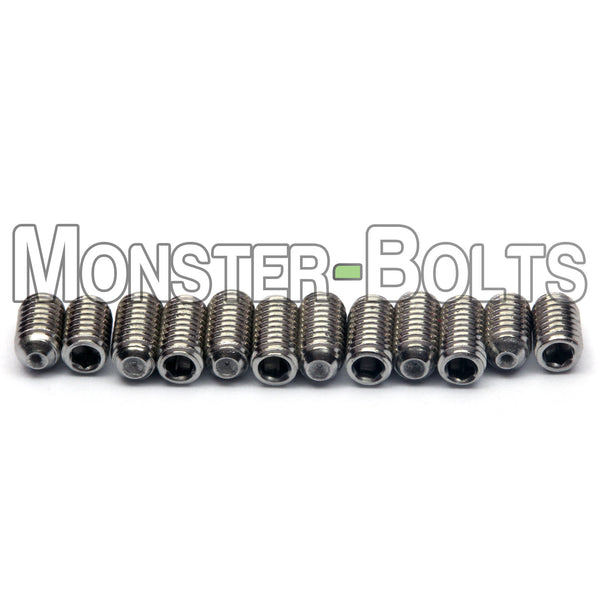 Black or Stainless Steel Guitar Screws for Bridge Saddle Height Adjustment - Wilkinson / Gotoh - Monster Bolts