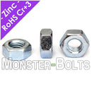 U.S. / Inch - Finished Hex Nuts, Grade 5 Zinc plated Steel