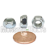 DIN 985 Nylon Insert Hex Lock Nuts - Zinc Plated Alloy Steel, Class 8 & 10 Cr+3 RoHS