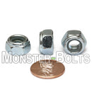 DIN 985 Nylon Insert Hex Lock Nuts - Zinc Plated Alloy Steel, Class 8 & 10 Cr+3 RoHS - Monster Bolts
