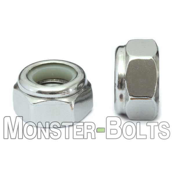 Metric Nylon Insert Hex Lock Nuts - Stainless Steel DIN 985 18-8 / A2 - Monster Bolts