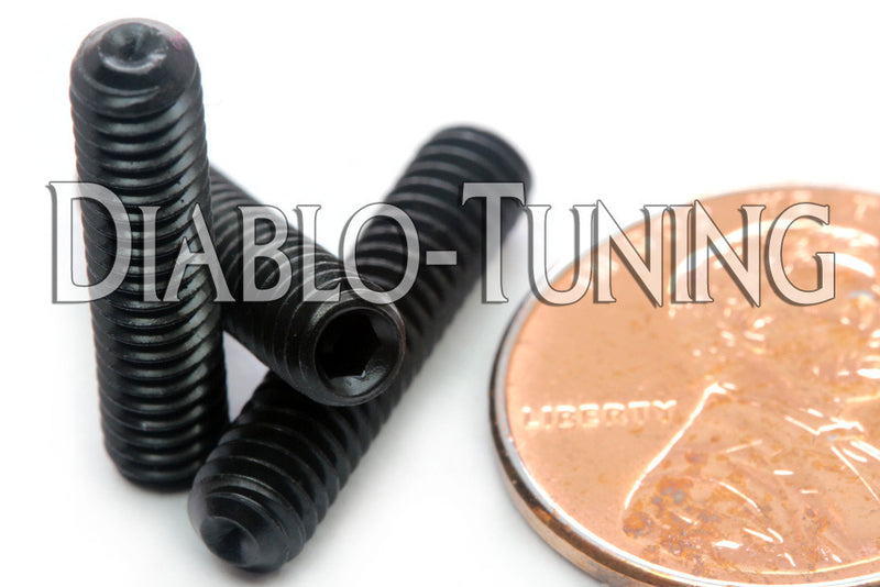 #8-32 - Cup Point Socket Set screws - Alloy Steel w/ Thermal Black Oxide