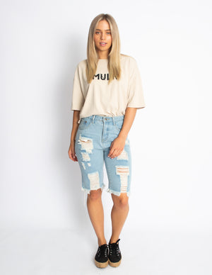 OVER THE EDGE TEE - SAND - MULR