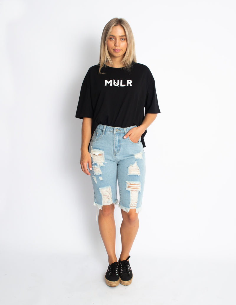OVER THE EDGE TEE - BLACK - MULR
