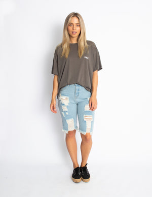 Sum It Up Shorts - Blue Denim - MULR