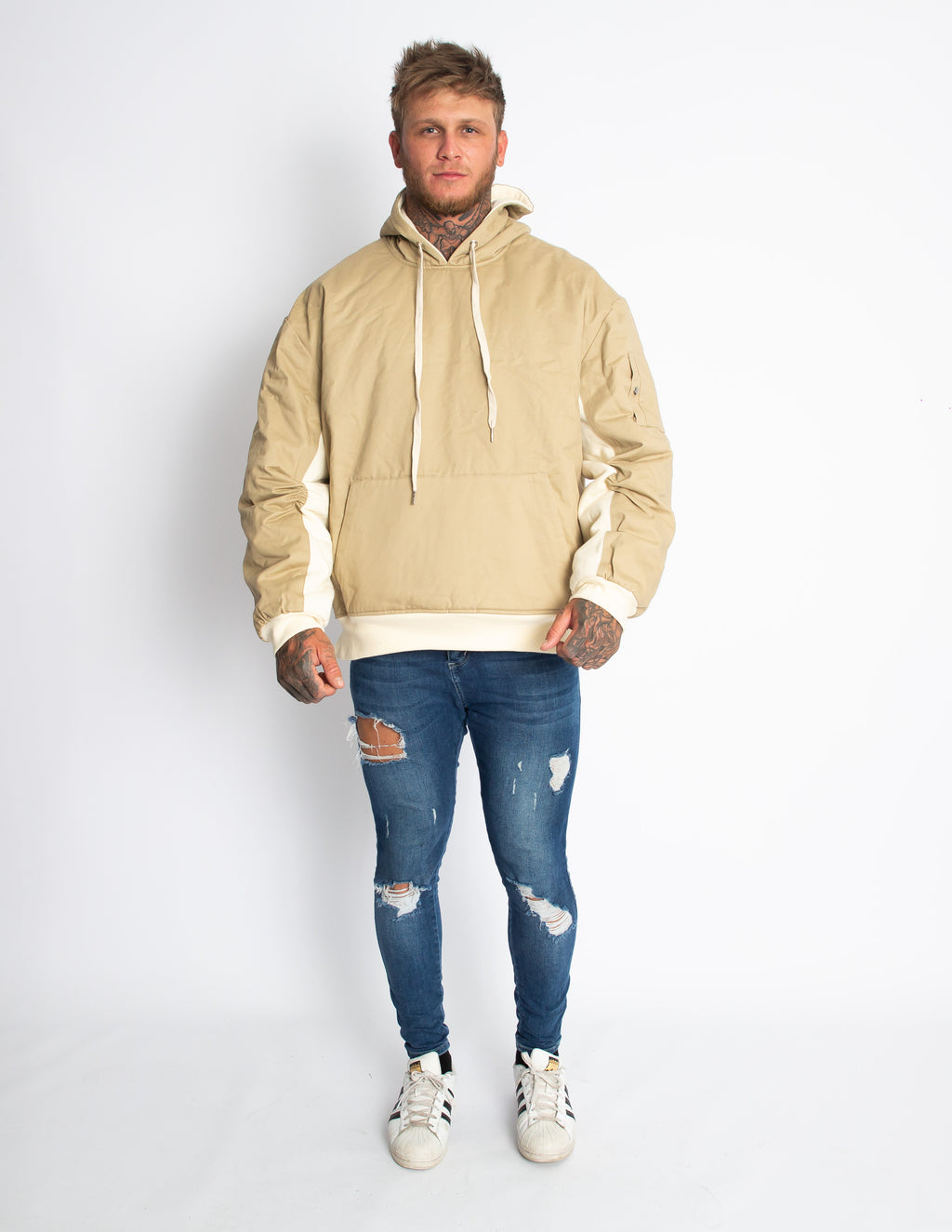 Making It Big Puffer Hoodie - Sand - MULR