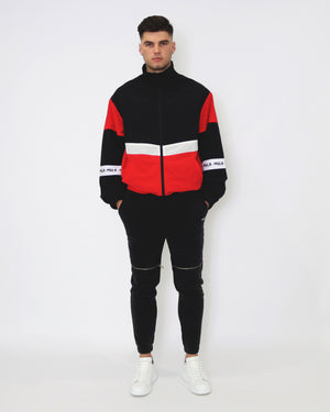 Rain Check Spray Jacket - Black & Red - MULR