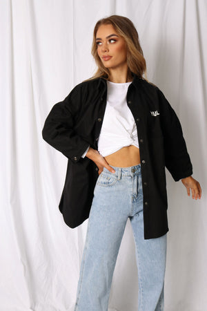 3rd Quarter Shirt Jacket - Black - MULR
