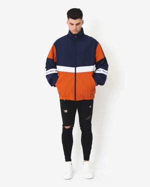 Rain Check Spray Jacket - Navy & Orange - MULR