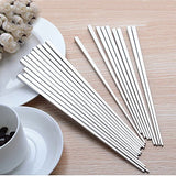 High Quality Metal Chopsticks Luxury Square Stainless Steel Chopsticks Household Hotel Restaurant Chopsticks (5pair)