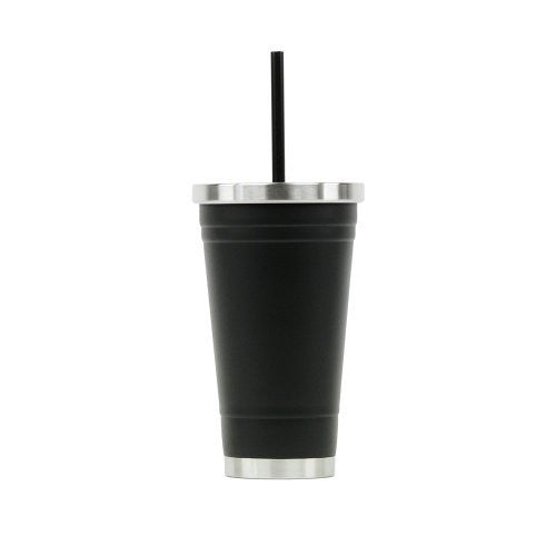 Hot or Cold - Stainless Steel Drink Tumbler - Double Wall Vacuum Insulated -18oz. Capacity - Matte Black