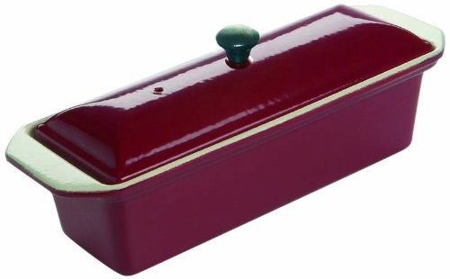 Le Chasseur 071076 Enameled Cast Iron Rectangular Terrine Fry Pan