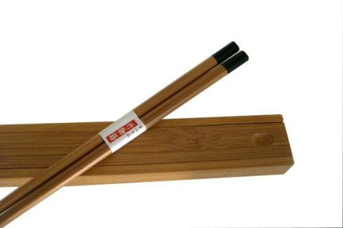 Happy Sales 1 X Japanese Bamboo Chopsticks with travel case Black