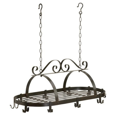 Gift Warehouse 35603 Hanging Iron Pot Rack