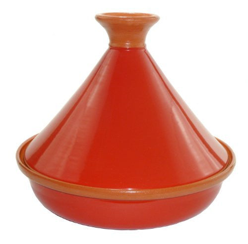 Le Souk Ceramique Cookable Tagine, Tomato Red