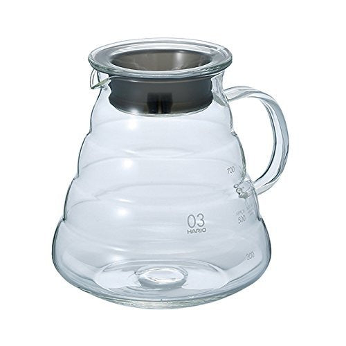 Hario V60 Glass Range Server (800ml, Clear, Size 01)