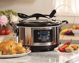 Hamilton Beach Set 'n Forget Programmable Slow Cooker With Temperature Probe, 6-Quart (33967A)