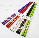 Happy Sales Bamboo Chopsticks Gift Set Wave Design, Wave Vivid Color