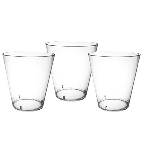 Party Essentials Hard Plastic 2-Ounce Shot/Shooter Glasses, Clear, 50-Count, Clear