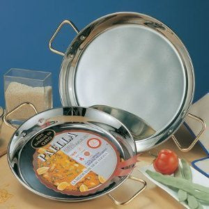 Garcima 16-Inch Stainless Steel Paella Pan, 40cm
