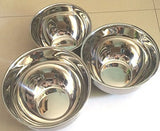 Mixing Bowl Set Stainless Steel 3 pieces - 1 QT, 1.5 QT, 2 QT