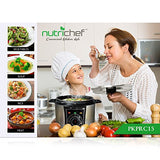 NutriChef PKPRC15 - Stainless Steel Electric Pressure Cooker and Steamer - Adjustable Cook time Setting for Vegetables and Rice