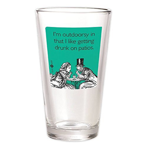 "Someecards ""Outdoorsy"" Pint - Teal"