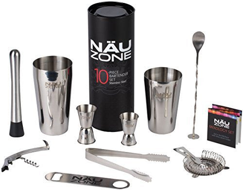 NÄU Zone Bartender Kit: Premium Boston Shaker Bar Set