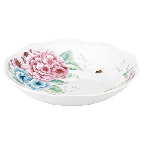 Lenox Butterfly Meadow Hydrangea Individual Pasta Bowl, White